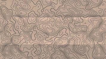 topografische lijnkaart. abstract concept topografische kaart in vintage stijl. vector