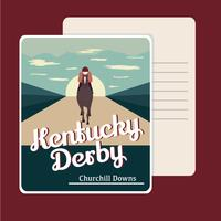 Retro Kentucky Derby-briefkaart vector