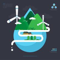 Clean Water Advocacy Illustratie