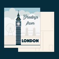 Londen briefkaart Vector