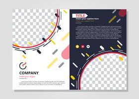 Modern Twee-voudige Brochure Template vector