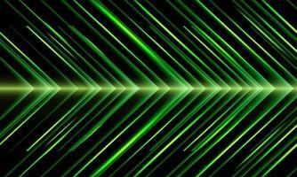 abstract groen pijl licht metaal richting snelheid patroon ontwerp moderne futuristische technologie achtergrond vectorillustratie. vector