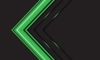 abstracte groene pijlrichting op grijs met lege ruimte ontwerp moderne futuristische achtergrond vectorillustratie. vector