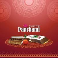 creatieve illustratie van godin saraswati happy vasant panchami vector
