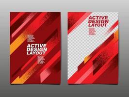 actieve ontwerplay-out, sportachtergrond, dynamische poster, de banner van de penseelsnelheid, vectorillustratie. vector