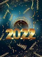 Gelukkig nieuwjaarsfeest flyer 2022 vector