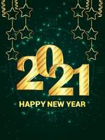 Gelukkig Nieuwjaar partij flyer vector