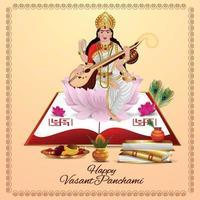 vrolijke vasant panchami vector