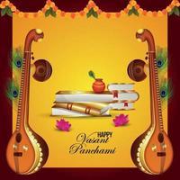 gelukkige vasant panchami viering achtergrond vector