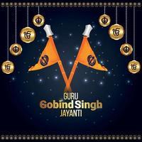 creatieve illustratie voor de viering van de gelukkige goeroe gobind singh jayanti vector