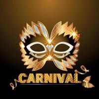 gouden masker voor carnavalviering vector