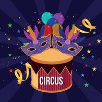 carnaval feest groet vector