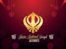 guru gobind singh jayanti-viering vector