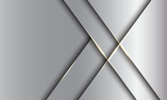 abstracte zilveren gouden lichte luxe met lege ruimte ontwerp moderne futuristische achtergrond vectorillustratie. vector