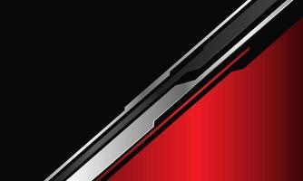 abstracte rode driehoek metallic zilvergrijs circuit cyber lijn op donker met lege ruimte ontwerp moderne futuristische technologie achtergrond vectorillustratie. vector