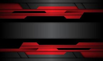 abstract rood grijs zwart metallic cyber geometrische banner ontwerp moderne futuristische achtergrond vectorillustratie. vector