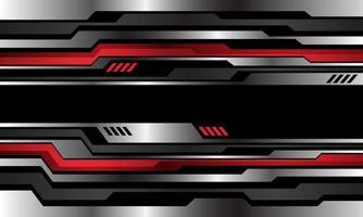 abstract zilver rood metallic cyberpatroon op zwarte ontwerp moderne technologie futuristische achtergrond vectorillustratie. vector