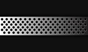 abstracte achtergrond zilveren cirkel mesh overlapping op donkergrijs ontwerp moderne futuristische vectorillustratie. vector