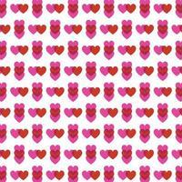 rood roze overlappend hartenpatroon vector
