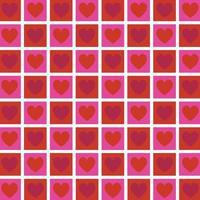 roze rood vierkant hartenpatroon vector