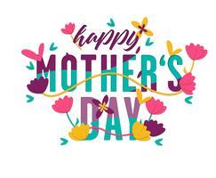 Moeders dag kaart Vector