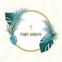 Platte palmzondag vector achtergrond