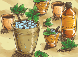 Mint Julep Illustratie vector