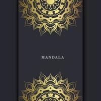 luxe gouden mandala sierlijke achtergrond voor bruiloft uitnodiging, boekomslag met mandala element stijl premium vector