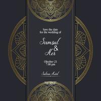 mandala-sjabloon met elegante, klassieke elementen. geweldig voor uitnodiging, flyer, menu, brochure, achtergrond Premium Vector