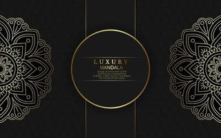 luxe mandala patroon achtergrond met gouden arabesque vector