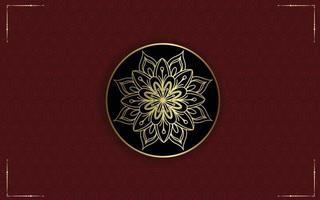 bloemen en mandala sier decoratief frame achtergrondluxe premium vector