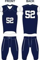 custom design american football uniformen jersey en korte broek vector
