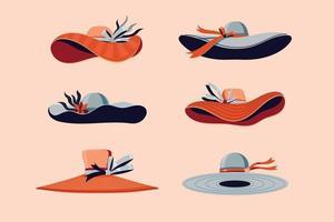 kleurrijke derby hoeden instellen vectorillustratie vector