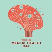 wereld geestelijke gezondheid dag concept vector