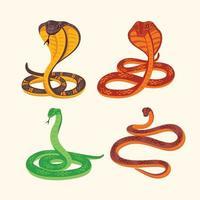 set van slangengif roofdier vectorillustratie vector