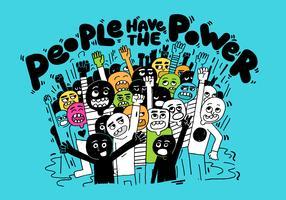 mensen macht illustratie