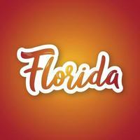Florida - hand getrokken belettering zin. vector