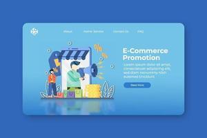 moderne platte ontwerp vectorillustratie. bestemmingspagina voor e-commerce promotie en webbannersjabloon. online winkelen, flash-verkoop, grote verkoopbanner, korting, promotiebannerontwerp. vector