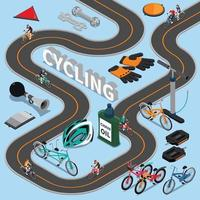 fiets isometrische samenstelling