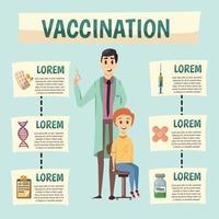 verplichte vaccinatie orthogonale achtergrond vector