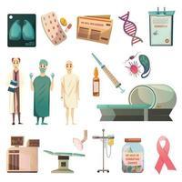 versla de orthogonale pictogrammen van kanker vector