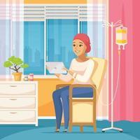 kankerpatiënt oncologie vlakke samenstelling