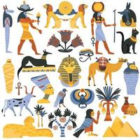 Egyptische platte set vector