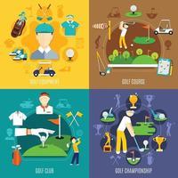 golf 2x2 set vector