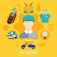 golf vlakke afbeelding vector
