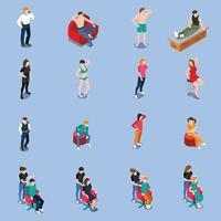 foto model bureau mensen isometrisch vector