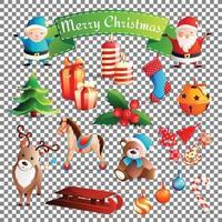 nieuwe jaar cartoon set vector