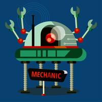 een mechanisch karakter vector