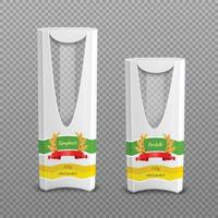 pastapakket realistische set vector