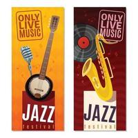 banners voor jazzmuziek vector